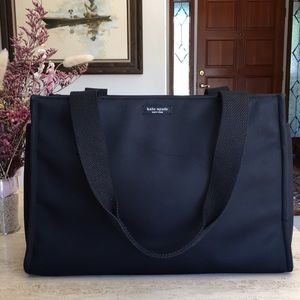 🌹KATE SPADE New York Structured Black Fabric Tote